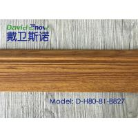 Quality UV Coating Plastic Skirting Board Laminated Floor Accessories High Density for sale