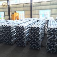 Quality 10m 11m Class 3 Galvanized Steel Electrical Pole 11KV 33KV 5.3KN 6.7KN for sale