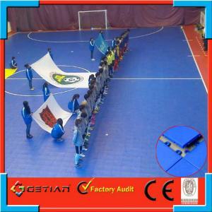 Quality Garage Flooring Waterproof Soccer Surface , Getian Interlocking Sports Flooring for sale