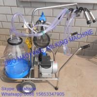 Quality Vacuum Pump Typed Single Bucket Mobile Milking Machine, hot sale portable milking machine for small farms for sale