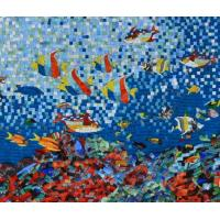 Quality Sea Creatures Exquisite Mosaic Tiles Designs Patterns , Large Mosaic Garden Wall Art for sale