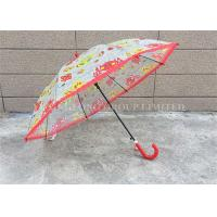 Quality PVC 8 Ribs Children'S See Through Umbrellas , Girls Clear Rain Umbrella for sale