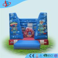 China Huge indoor commercial Inflatable Bounce House for rent 0.4+0.55mm PVC on sale