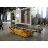 Buy cheap Flexible Steerable Electric Trackless Transfer Bogie On Cement Floor from wholesalers