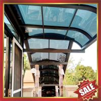 China anti-uv polycarbonate aluminium alloy awning canopy for porch gazebo patio corridor-excellent wanterproofing sunshade on sale