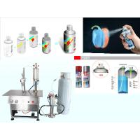 Quality Semi Automatic Aerosol Filling Machine for Graffiti Spray Paint Pneumatic Drive for sale