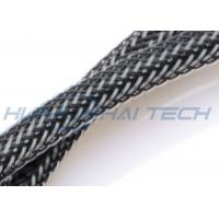 Quality UL Approval PET Expandable Sleeving Wear Resistant For Computer Power Cord for sale