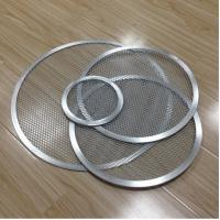 Quality Aluminum Expanded Mesh Wire Pizza Baking Tray , Metal Pizza Net 6-20 Inch Customized for sale