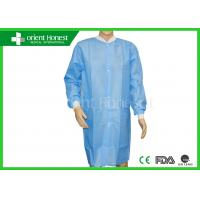 China Long Sleeve Working Disposable Chemical Suit For Lab / Disposable Jackets on sale