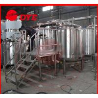 Quality 500L Micro Red Copper Beer Brewing Equipment 100MM Insulation Thickness for sale