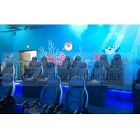 Quality Black Motion Seat Cinema 5D Simulator System With Three Dimensional Movies for sale
