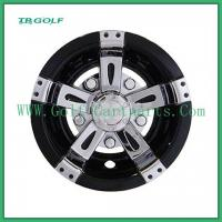 """Quality Universal Golf Cart Wheel Covers Golf Cart 8"""" Vegas Chrome 1 Year Warranty for sale"""