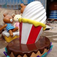 Quality High Simulation Artificial Fiiberglass Ice Cream Sculptures for sale