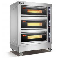 Quality Electric Deck Oven 3 Deck 6 Trays Front Stainless Steel Electric Deck Oven FMX-O40C for sale