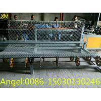 Quality 4m width Full Automatic double wire feeding Chain Link Fence Making Machine for sale