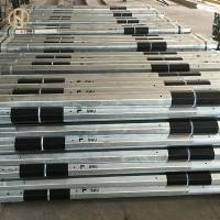 Quality 13.5M 45FT Steel Electrical Power Pole Zinc Color Octagonal Cross Sectional Shape for sale