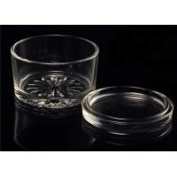 Buy Personalised Empty Clear Glass Candle Jars With Lids , ASTM Test at wholesale prices