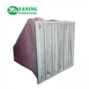 Quality HVAC System Polyester Pocket Air Filter Bag M6-M9 3200m³/h Air Volume Galvanized Sheet Frame for sale