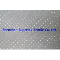 Quality Cotton Twill Dot Print Elastic Stretch Fabric 32S 40D 180GSM for sale