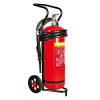 Quality 50 kg Trolley Wheeled Dry Powder Fire Extinguisher Test Pressure 25 Bar For Subway for sale