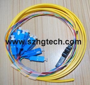 Quality Single Mode SC/UPC Ribbon 12Core  Fiber Optic Pigtail for sale