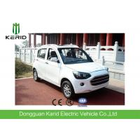 Quality Popular Fully Electric Cars With 4 Leather Seats White Color F/R Brake Style for sale