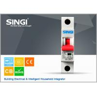 Quality Power mini single pole circuit breaker for home with CE / CB Certificate for sale