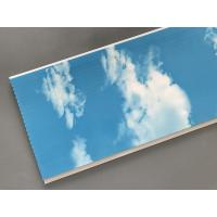 Quality Hot Stamping 250 × 7mm Ceiling PVC Panels  With Blue Sky And White Clouds for sale