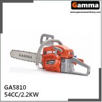 Buy cheap chain saw 5810, gasonline chain saw, Oregan guide bar, 54.4cc displacement from wholesalers
