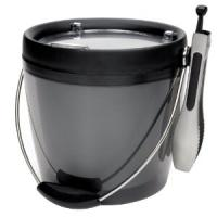 Quality PP Round Shape Plastic Ice Buckets with tongs for wine container φ16.5 * h18.5 ( 2L ) for sale