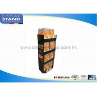 Buy Trade Show Cardboard Floor Display Stand By Offset Printing / Flexo Printing at wholesale prices