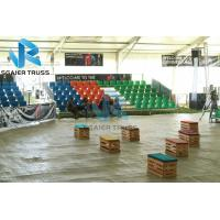 Quality Bleachers seating demountable grandstand with guardrail for 3sides for renting company for sale