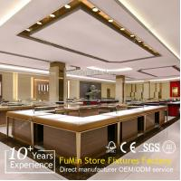 Quality professional retail store jewelry showcase with/wood,led light ect for sale