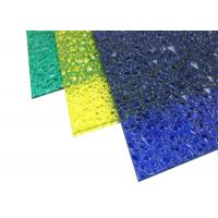 China Extruded Polycarbonate Plastic Roof Panel Embossed For Indoor Decoration on sale