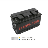 Quality FOBERRIA 6 Qw 100H Auto Start Stop Battery 100AH 20HR 850A Yacht Battery for sale