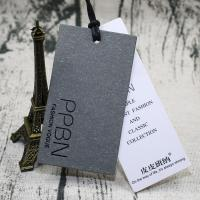 China Luxury Paper Hang Tags / Garment Clothing Hang Tags Eco Friendly With Logo on sale