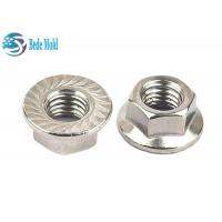 China Hex Head Flange Nuts  Fully Threaded Iron / Alloy Steel Material Metric Standard DIN 6932 for sale