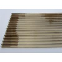 Buy Color Bronze 6mm / 8mm Double Wall Polycarbonate Greenhouse Panels Multi Purpose at wholesale prices