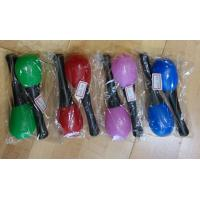 Quality Plastic Kids Musical Instrument Cute Colored Orff Plastic Maracas for sale