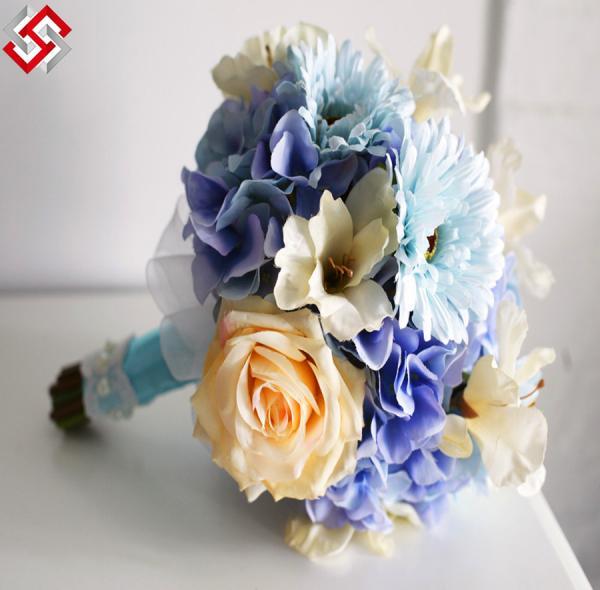 Buy Artificial Faux Wedding Decor Bouquet Bridal Maid Bouquet Flower at wholesale prices