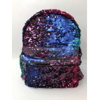 Quality Women Polyester Laptop Bag Dazzling Sequin Backpack With Sequin Material for sale