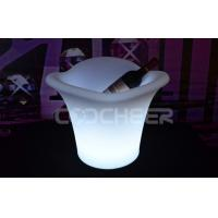 Quality Night club Led Ice Bucket Glowing Led Cooler multi colors fireproof for sale