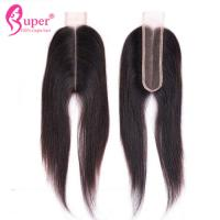 Quality Straight Lace Closure 2x6 Bleached Knots Hair Weave Direct Wholesale Price for sale