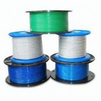 Quality Steel Wire Rope with PVC Coating, Available in Different Sizes for sale