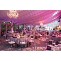 Quality 15m Span New Design Luxury Waterproof Pinnacle Glass Wall Tents For Party And Wedding for sale