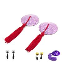 Quality Female Toys Tassels Nipple Covers / Breast Pads Round Shaped , Sex Bondage Toys for sale