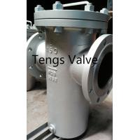 Quality Carbon Stainless Steel Basket Strainer 300#, Bolted Cover Flanged Basket Filter Class300Lb for sale