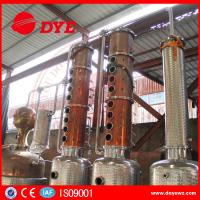 Quality 3000L Steam Copper Distillation Column For Whiskey Brandy Rum Gin for sale
