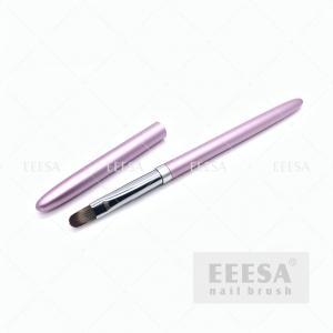 Quality Round 10 Gel Nail Brush Pink Metal Handle Polygel Acrylic Gel Builder Brush for sale
