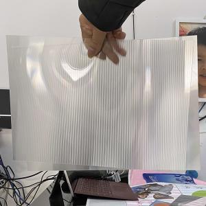 Quality Super transparency lenticular sheet clear PET Lenticular 75 lpi lens sheet 3D flip lenticular lens sheet for sale